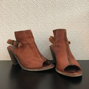 Frye Courtney Leather Slingback Mules (6.5)